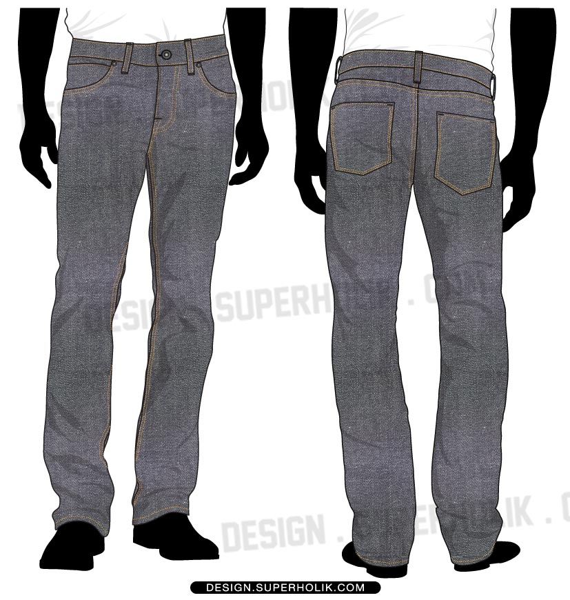Denim pants template