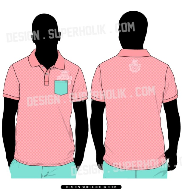 Polo shirt vector set