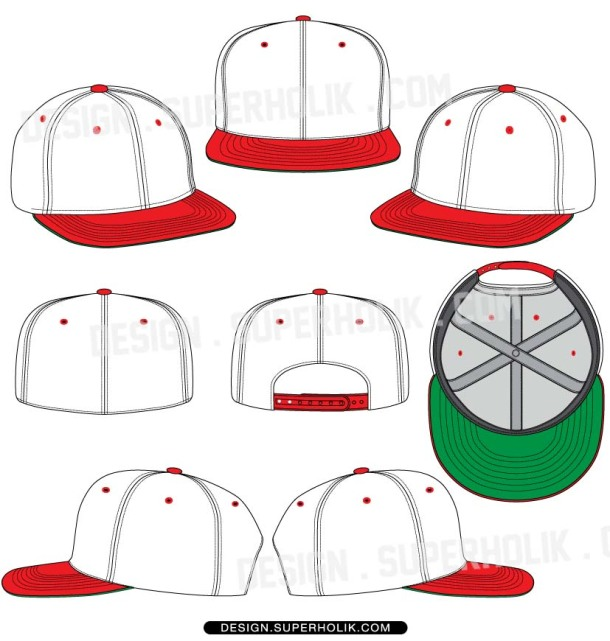 snapback fitted cap template