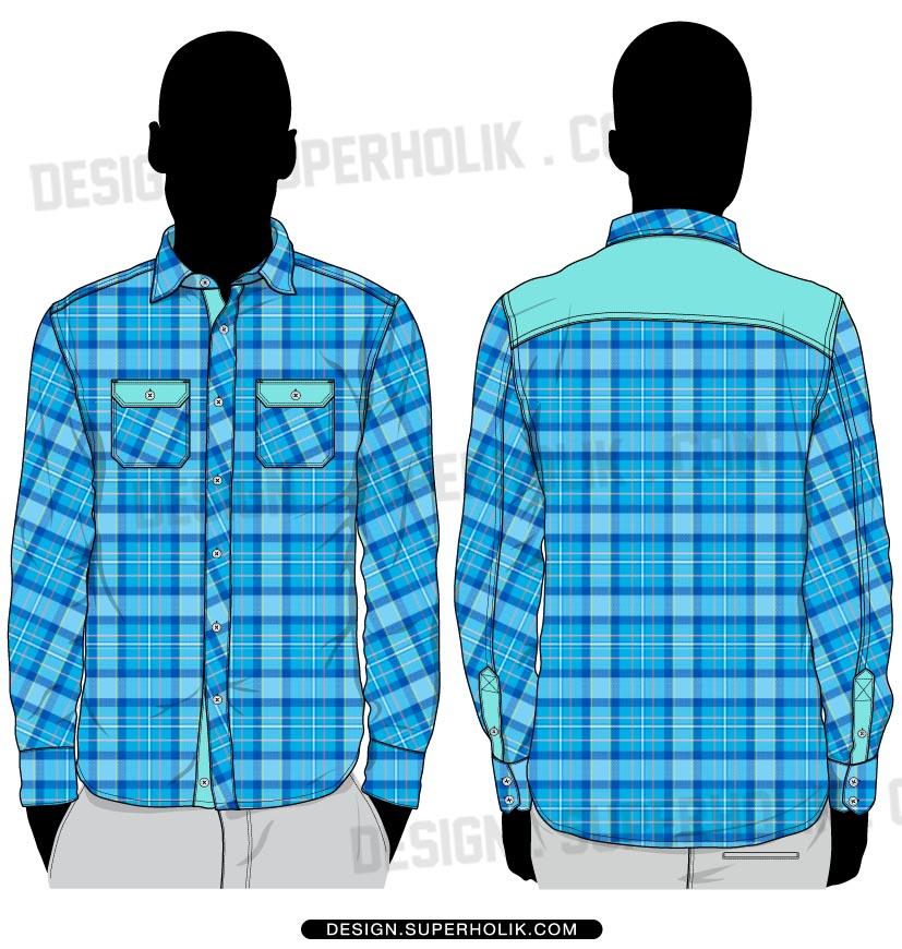 button down shirt vector