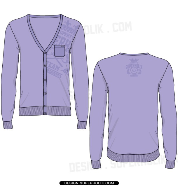 cardigan vector template