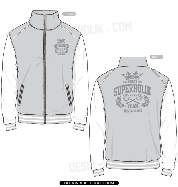 Track jacket vector template