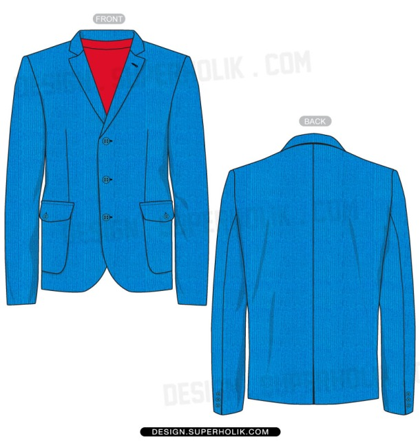 Blazer vector template
