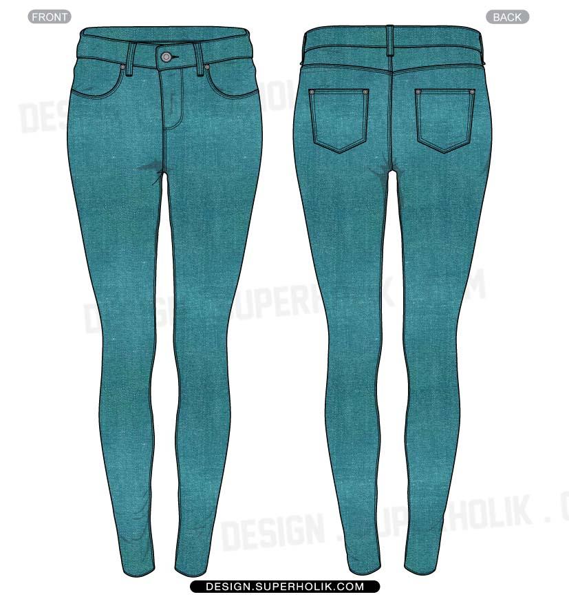 pants template vector