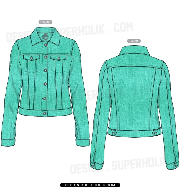 Jacket vector template