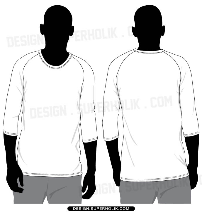 Long Sleeve Shirt Vector Template Shirt Template Vector