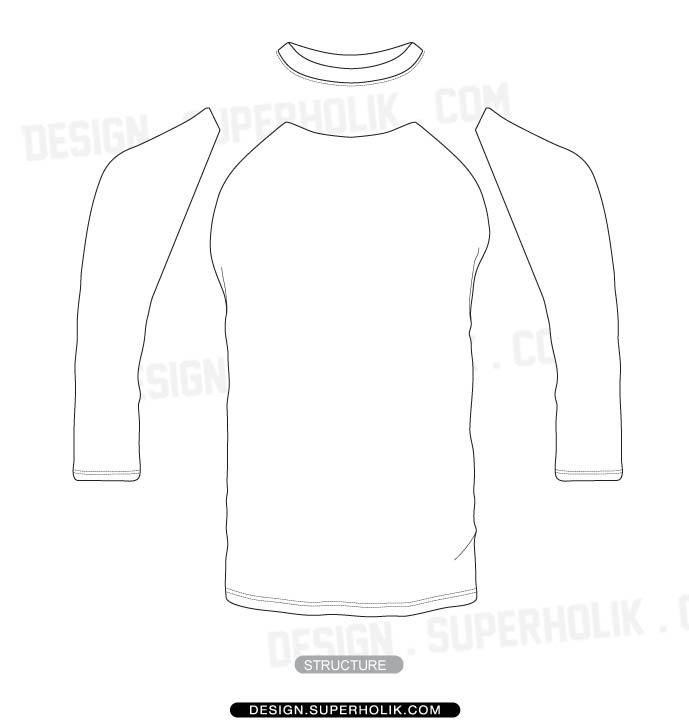 3  4 sleeve shirt template  u2013 set