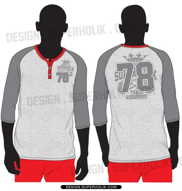 3 4 sleeve shirt henry neck template set hellovector for 3 4 sleeve shirt template