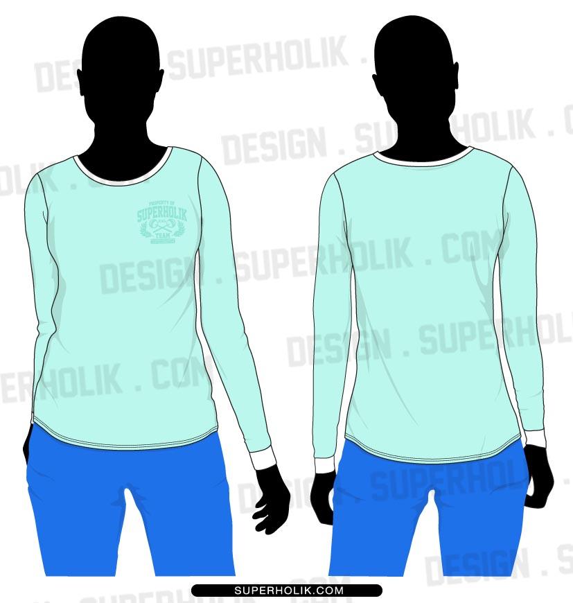 Long sleeve tee shirt template