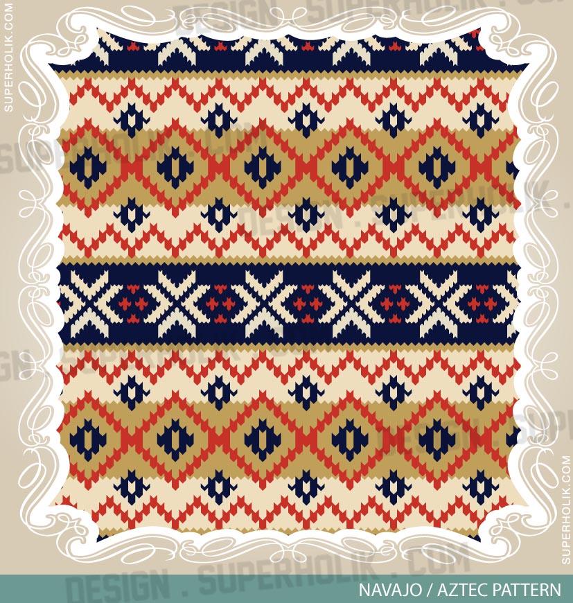 aztec pattern vector