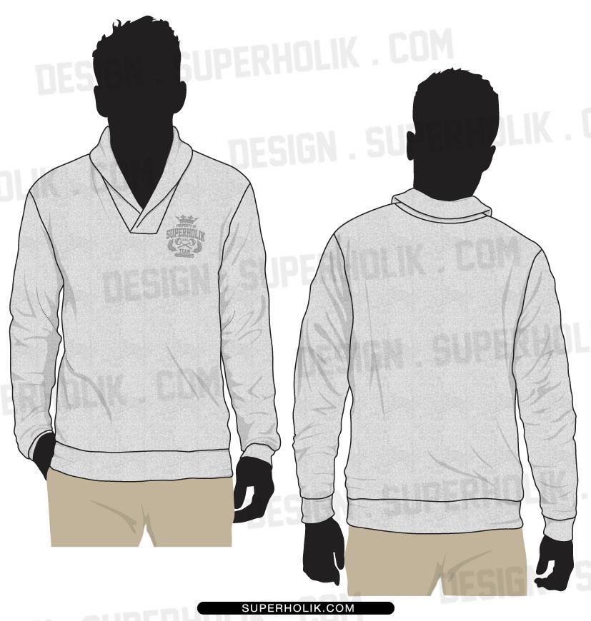 Shawl collar shirts template set