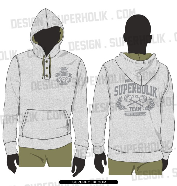 Henley hoodie template