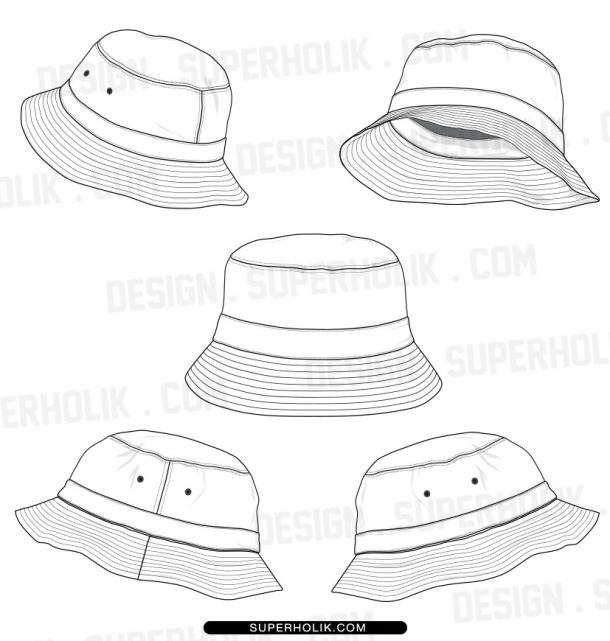 BUCKET HAT TEMPLATE