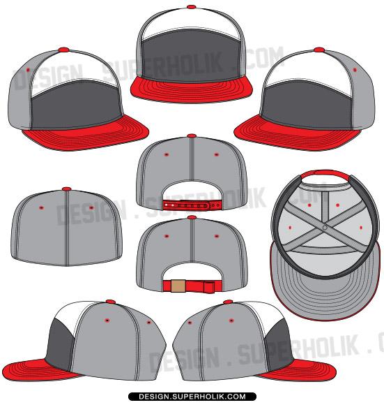 6 panel hat template