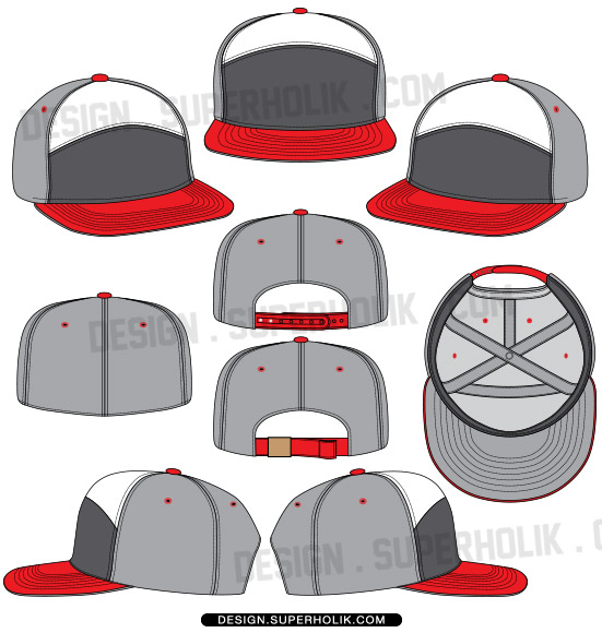 6 panel hat template